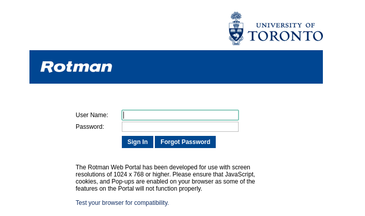 Univerity Of Toronto Login