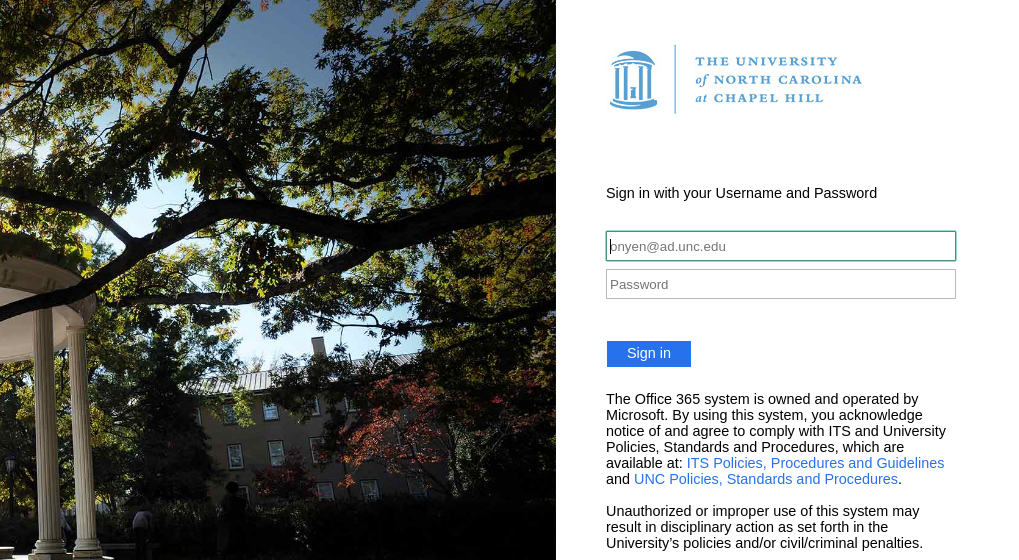 University Of North Carolina At Chapel Hill Login