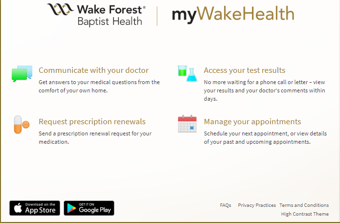 myWakeHealth Patient Portal