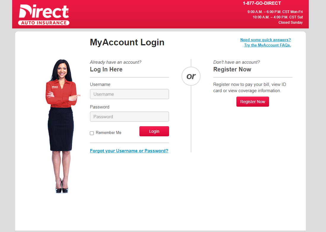 Login to Direct General Auto Insurance