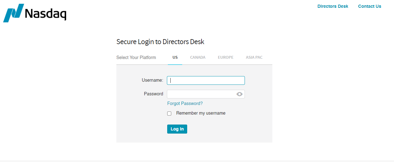 Login to Your Directors Desk Account
