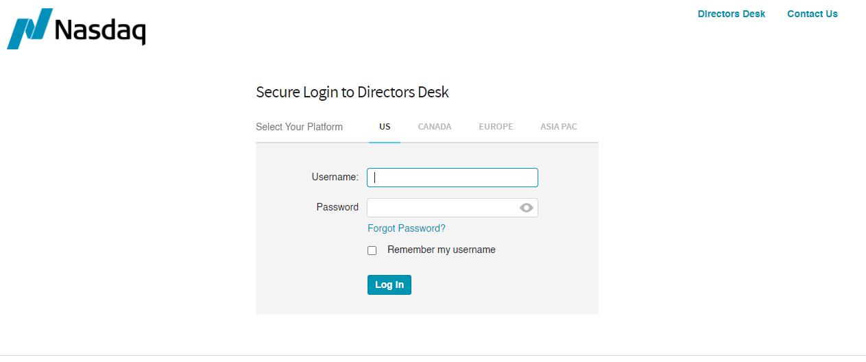 Login to Your Directors Desk Account