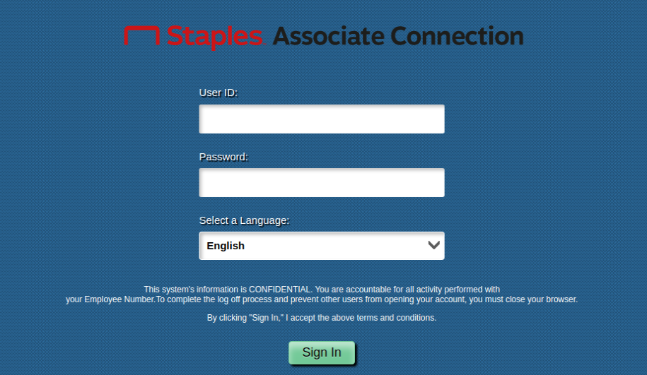 staples associate connection login