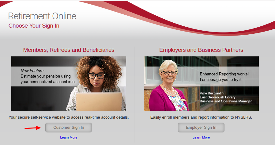 nys local retirement system login
