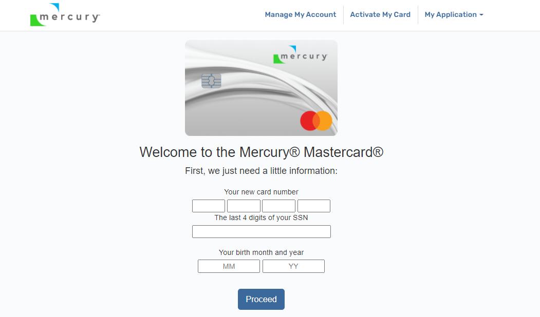Mercury Card Activate