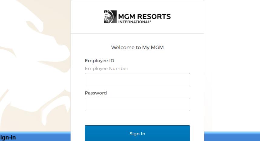 mgm employee login