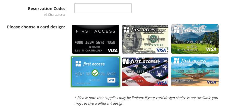 first access visa card