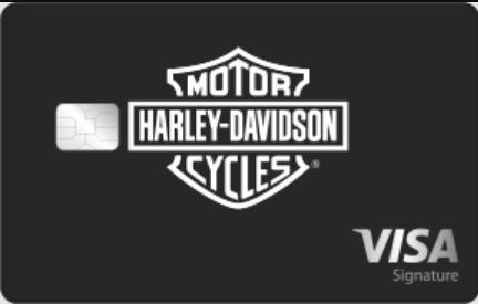 harley davidson visa signature card